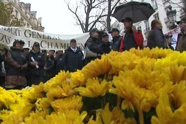 Paris-Assemblée nationale - manifestation des arboriculteurs et maraîchers - 5 novembre 2012.