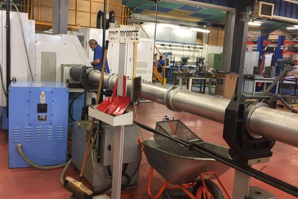 Atelier mécanique de l'entreprise Viatemis dans l'Allier, le 21 mars 2017.