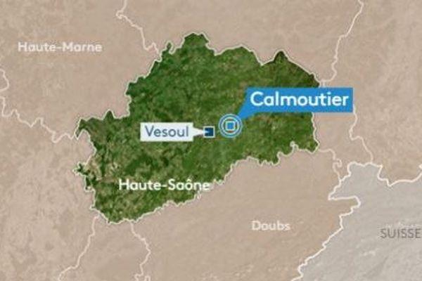 L'accident s'est déroulé sur la RN 19 à proximité de Calmoutier.