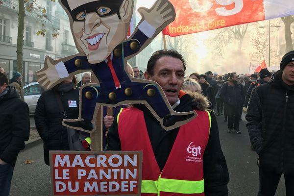 Manifestation à Tours le 5 décembre 2019 (archives)