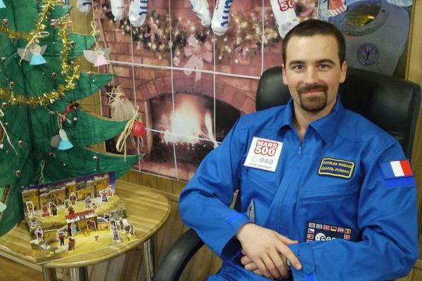 Romain Charles lors du projet Mars 500, confiné avec cinq autres personnes pendant un an et demi.
