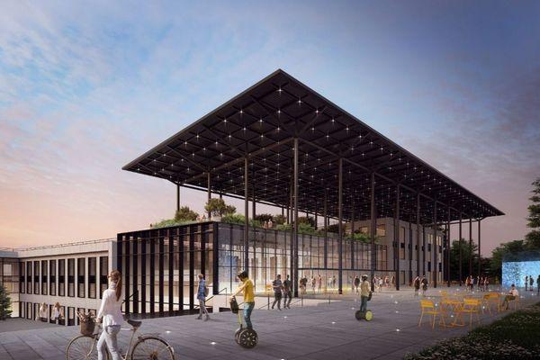 """Un site qui ouvrira à la rentrée 2020, avec 5000 étudiants en """"vitesse de croisière"""", dixit Laurent Wauquiez, président LR de la région Auvergne-Rhône-Alpes"""