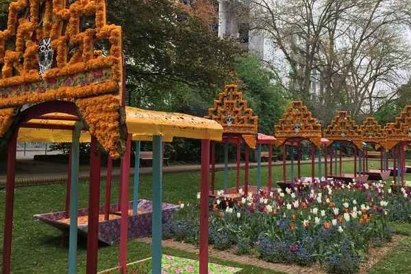 Les structures du Square Foch à Lille, qui ne seront pas remontées samedi prochain.