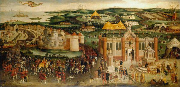la rencontre du camp du Drap d'Or en 1520, peinture