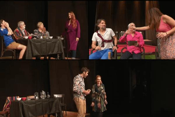 """""""Amore, amore"""", une pièce écrite et mise en scène par Guy Cimino (compagnie Teatrinu) jouée en langue corse au théâtre de Bastia."""