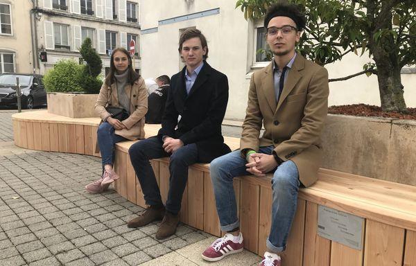 Marie Gillon, Barthélémy Cuilleret, Adrien Béret et Marie Roche-Pinault (absente sur la photo) ont réfléchi à d'autres aménagements pour ce lieu.