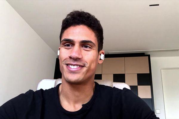 Raphaël Varane, ce lundi 8 février lors de l'interview au journal télévisé.
