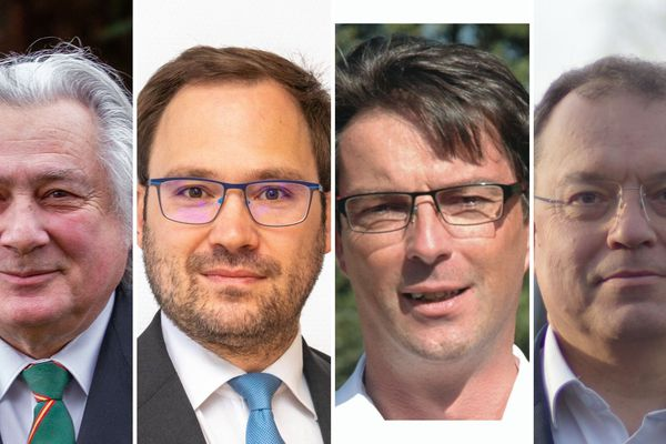 Jeanny Lorgeoux (LREM), Louis de Redon (LREM), Raphaël Hougnon (LR) et Didier Guénin (PS)