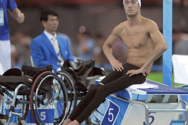David Smétanine lors des Jeux Olympiques de Pékin en 2008 où il décrocha quatre médailles, dont deux d'or.