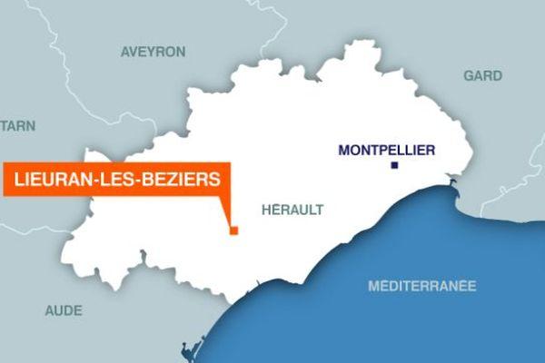 Carte Lieuran-lès-Béziers (Hérault)