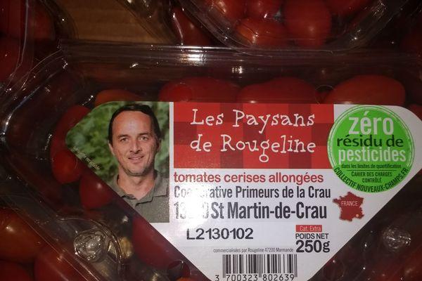 """Les tomates vendues en grandes surfaces sont marqués du label """"Zéro Résidu de Pesticides"""" afin de garantir la qualité du produit."""