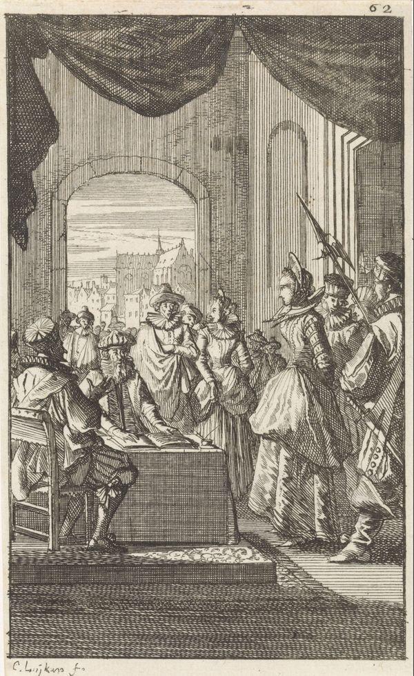 """Denisette wordt voor de rechters gebracht"" (""Denisette amenée devant les juges"")"