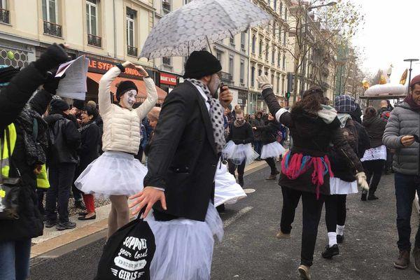Grenoble, vendredi 24 janvier lors de la manifestation contre la réforme des retraites.