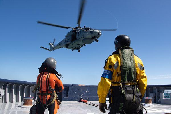 L'hélicoptère Caïman de la Marine nationale