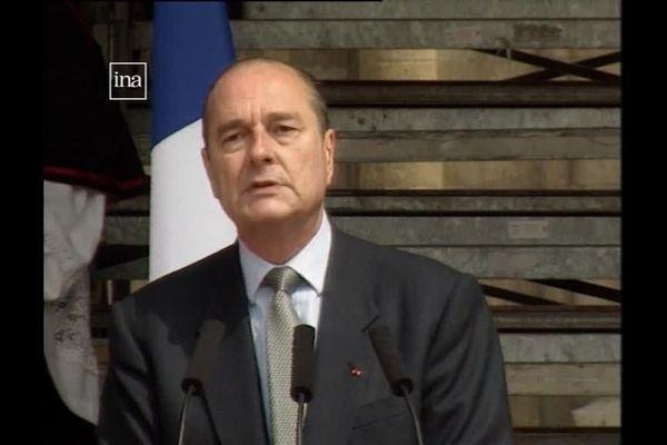 Jacques Chirac à Orléans en 1996.