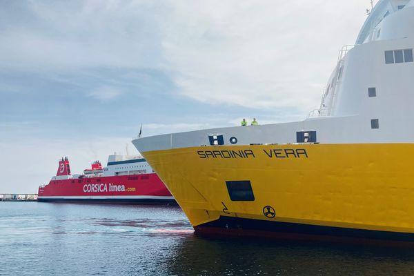 ILLUSTRATION -  Des navires des compagnies Corsica Ferries et Corsica Linea dans le port de Bastia.