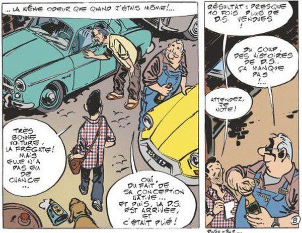 Le Garage de Paris, BD de Dugomier et Bazile, raconte la vie des français et de leurs voitures