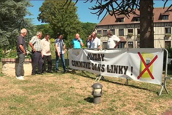 Le collectif CEEPAL réuni à Alizay contre le Linky