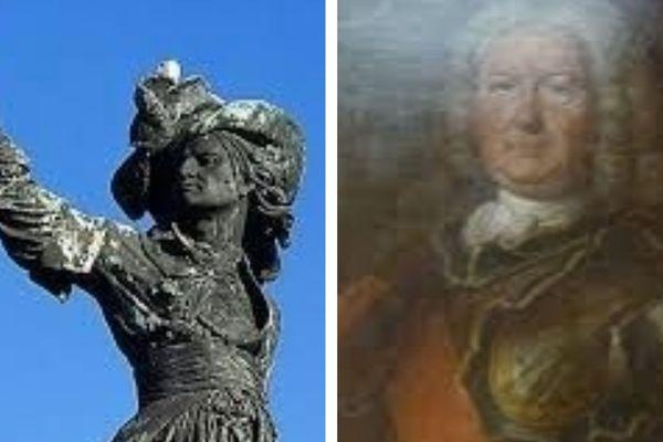 Jean Bart à gauche, François Cornil Bart son fils à gauche