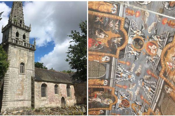 La chapelle Sainte-Suzanne notamment connue pour sa voûte peinte