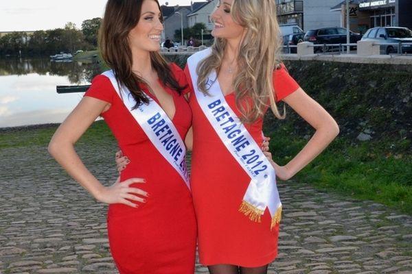 Audrey Bonecker (Miss Bretagne 2012) et Estelle Sabatier (Miss Bretagne 2012)