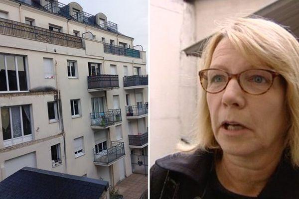 Une habitante d'Angers, voisine de l'immeuble dont un balcon s'est effondré, témoigne...