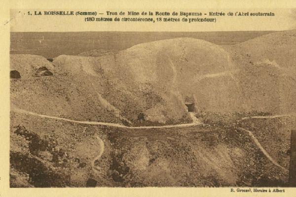 Trou de mine de la Boisselle, aujourd'hui disparu