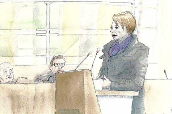 Christelle, ex-épouse de l'accusé Willy Bardon dans l'affaire Elodie Kulik, le 21/11/2019