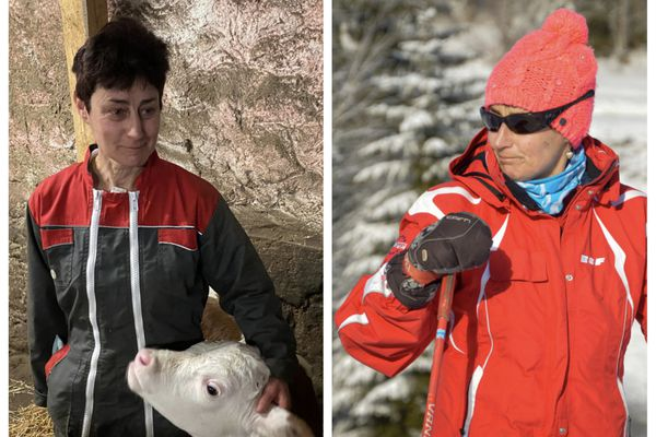 Laurence, agricultrice et Laurence, monitrice de ski.