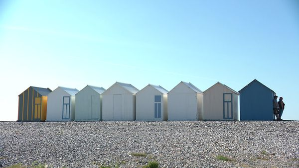 Les cabines de plage de Cayeux-sur-Mer