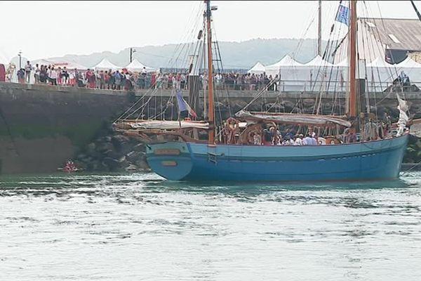 Le public était au rendez-vous pour cette 30ème édition des fêtes de la mer à Fécamp. Dimanche 8 juillet 2018.
