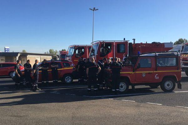 Soixante pompiers héraultais partiront jeudi 26 octobre pour la Corse - octobre 2017.