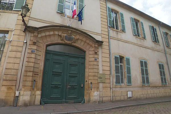 Plan extérieur du Lycée Fabert, Metz (Moselle).