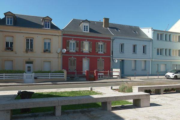 Les maisons de Cayeux-sur-Mer aux teintes colorées