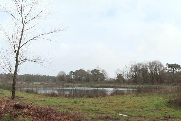 Le site où devrait être construite la ferme des 1.000 taurillons