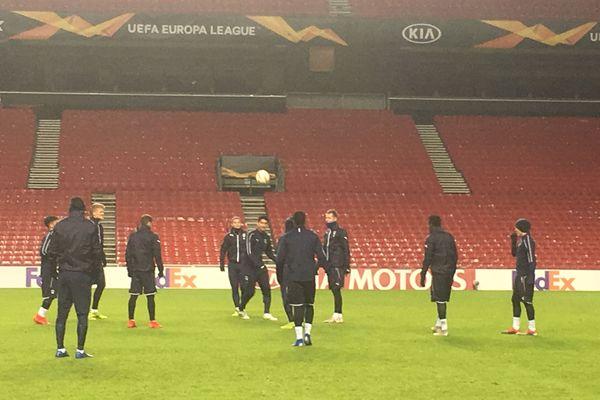 Les Girondins de Bordeaux en entraînement à Copenhague.