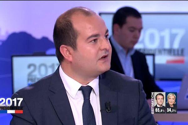 David Racheline sur le plateau de France 2, le 7 mai 2017