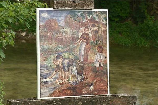 """C'est sur les bords de l'Ource, à Essoyes, que le tableau """"Les laveuses"""" a été peint par Auguste Renoir"""