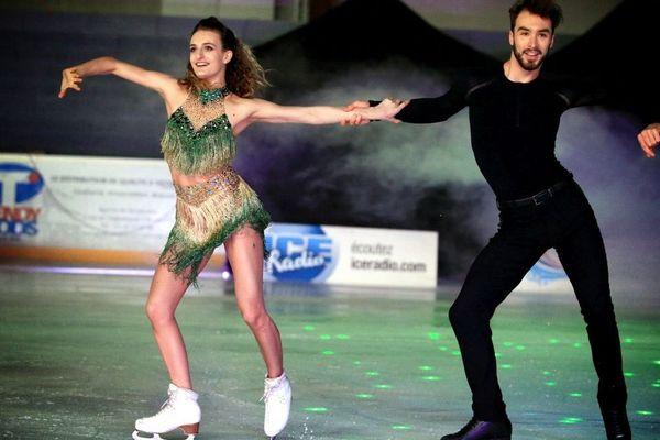 Gabriella Papadakis et Guillaume Cizeron, vice champions olympiques et champions du monde, le 1er avril 2018 à Metz.
