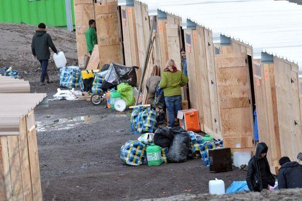 Le nouveau camp de migrants à Grande-Synthe.