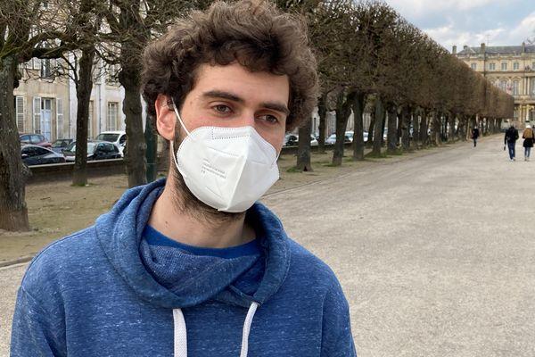 Loïc, militant anti-Cigéo à la sortie de la cour d'appel jeudi 4 mars 2021