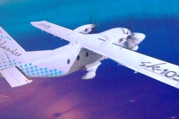 Image de synthèse du Skylander en vol.