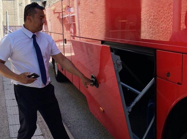 Les BlaBlaBus sont équipés de soutes qui permettent de ranger ses valises pour le trajet.