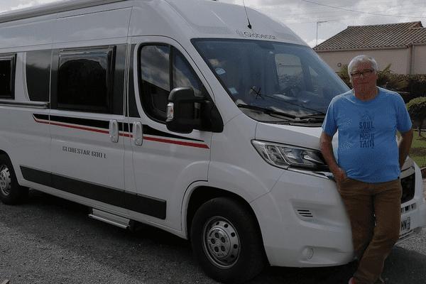 Christian Milcent et son camping car prêts pour un nouveau départ