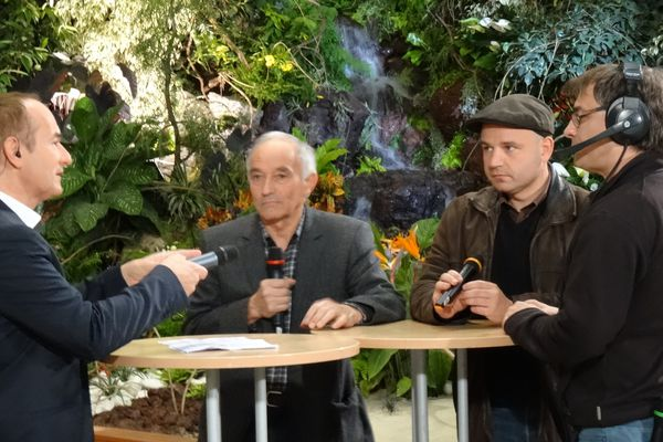 Alain Fauritte avec ses intités Emmanuel Wisantin et Danielm perret