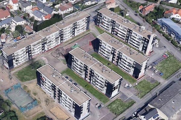 La chute s'est produite rue des hêtres au Havre