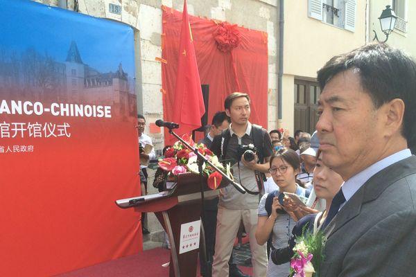 Jun Zhai, l'ambassadeur de Chine à Paris, est venu à Montargis pour inaugurer le musée de l'Amitié Chine-Montargis