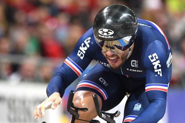 Quentin Lafargue lors de sa victoire le 1er mars 2019 pendant les Championnats du Monde en Pologne. Photo d'archives.