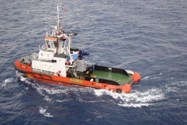 L'un des bateaux de secours du CrossMed
