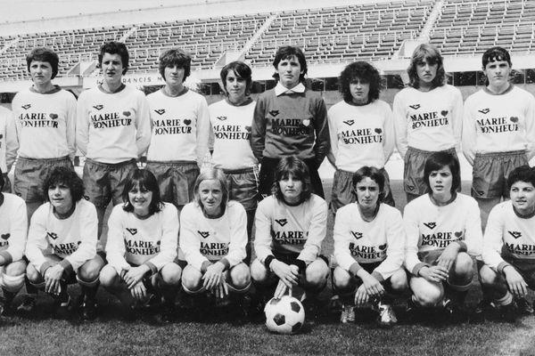 L'équipe féminine de football de Reims, le 27 septembre 1978